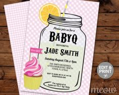 7 x 5 inch INSTANT DOWNLOAD customizable Baby Shower PDF invite. > Edit the text instantly at home using the FREE program Adobe Reader. > Print at home, online or at a print shop. > FREE MATCHING BACK PRINT  ------------------------- PERFECT FOR A... ------------------------- A Baby Girl, Twins, Mom Shower, Couples Shower etc CHANGE THE TEXT TO SUIT YOUR PARTY.  ------------------------- MATCHING ITEMS ------------------------- BOOK REQUEST: https://www.etsy.com/listi...