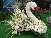 Pin by Veronica Hoenshell on Funeral Shaped Tributes Creative Flower Arrangements, Funeral Flower Arrangements, Beautiful Flower Arrangements, Floral Arrangements, Beautiful Flowers, Church Flowers, Funeral Flowers, Wedding Flowers, Topiary Garden