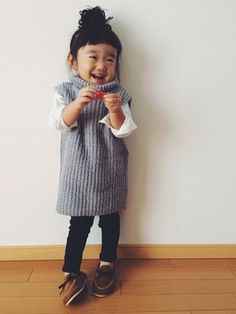 i love asian style Asian Kids, Asian Babies, Toddler Fashion, Kids Fashion, Kids Girls, Baby Kids, Girls Wardrobe, Kid Styles, Kids Wear