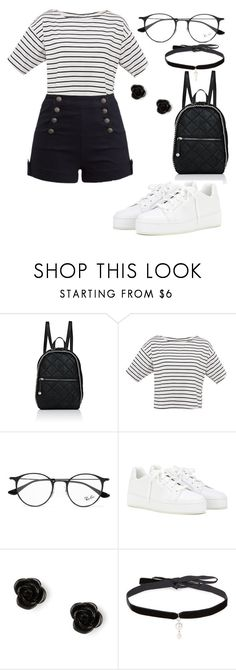 """""""~(≥◡≤)~"""" by alison-aguilar ❤ liked on Polyvore featuring STELLA McCARTNEY, Ray-Ban, Loro Piana, claire's and Joomi Lim"""