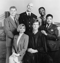 """""""night court""""  Harry Anderson, John Larroquette and Richard Moll"""