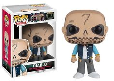 From Suicide Squad, El Diablo, as a stylized POP vinyl from Funko! Stylized collectable stands 3 inches tall, Perfect for any Suicide Squad fan! Collect and display all Suicide Squad Pop! Pop Vinyl Figures, Pop Action Figures, Disney Pixar, Disney Pop, Dc Comics Peliculas, Suicide Squad, Funko Pop Dolls, Funko Toys, Asgard