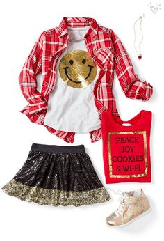 We're so there for this outfit, and we'll stay for the cookies & WI-FI. Teen Girl Outfits, Little Girl Outfits, Girls Fashion Clothes, Tween Fashion, Moda Fashion, Girly Outfits, Dance Outfits, Girl Fashion, Cute Outfits