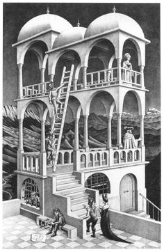 Escher. Dibujos e ilustraciones.