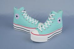 2529a9b99d18 Maxstar Women's C50 7 Holes Zipper Platform Canvas High Top Sneakers Mint