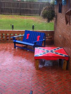 High Quality Ole Miss Outdoor Bench And Table