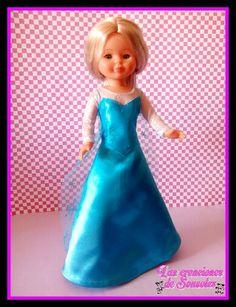 Vestido Elsa de Frozen para Nancy por las Creaciones de Sonsoles