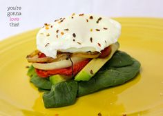 yum! poached egg stack