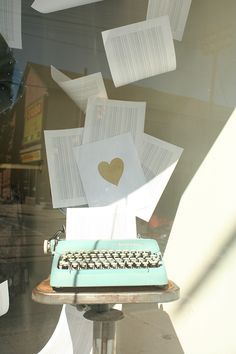 Recent Project: Girl Friday's Fall in Love Window | recreative works blog
