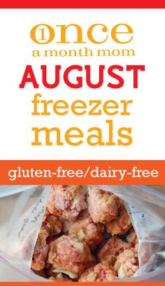 Gluten Free Dairy Free freezer cooking menu. Perfect for back-to-school #celiacs