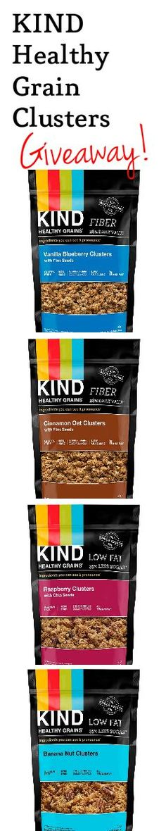 Enter to WIN! FOUR packs of KIND Healthy Grain Clusters!! Seriously the best granola clusters EVER! All #Glutenfree #Healthy + #Vegan!! #Giveaway #EnterToWin
