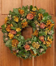 """18 """" Autumn Roses Wreath - ProFlowers.com"""