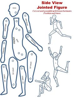 FREE Printable Jointed Figure For Tracing Teaching Children To Pose and Draw The Human Form