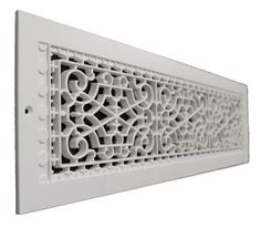 Victorian Style Wall Mount Grille/Vent  Customize your home with these decorative cold air returns, no more dented metal vents. Made from high strength