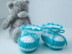 how to crochet baby booties  for beginner