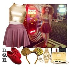 """""""Gold Casino."""" by dopegenhope ❤ liked on Polyvore"""