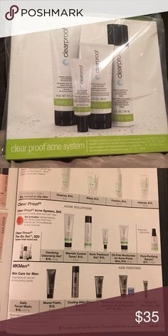 Mary Kay ClearProof Set Due to my recent sister's passing, I am trying to sell her Mary Kay. This set includes clarifying cleansing gel, blemish control toner, acne treatment gel, and oil free moisturizer. Mary Kay Makeup