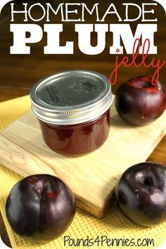 Learn how to make homemade plum jelly like a pro with tips and tricks to making perfect homemade jelly every time. Plus easy canning tips for thick plum jelly. Reminds me when we had a plum tree and make homemade plum jelly every summer with my mom. Easy Canning, Canning Tips, Canning Recipes, Freezer Recipes, Homemade Jelly, How To Make Homemade, Homemade Recipe, Homemade Food, Plum Jelly Recipes