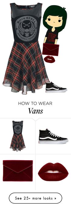 """Velvet"" by selinalindroth on Polyvore featuring Lime Crime, Vans and Rebecca Minkoff"