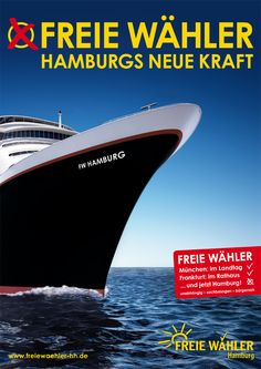 Power engines on - this is how a new political party in port town Hamburg, Germany, has tried to make it's statement as a coming force in local elections Frankfurt, Hamburg Germany, Political Party, Engineering, Politics, Architectural Engineering