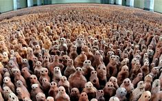 Antony Gormley's Field, - clay sculptures, community project