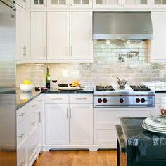 1000 images about kitchen backsplash on pinterest kitchen backsplash design kitchen - White brick backsplash ...