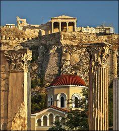 Architecture details of Ancient Athens
