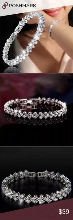 ⬇️ $55 NWT sparkling crystal rhinestone bracelet Brand New shinny crystal rhinestone bracelet bangle. Check out my closet, we have a variety of women's, lululemon VS Victoria Secret, handbags purse 👛 Aerosoles, shoes 👠fashion jewelry, pineapple 🍍 black choker gold silver necklace, clothing, dress, Beauty, home 🏡 .  Ships via USPS. Smoke & Pet-Free. Offers 30% OFF bundle discount. Always a FREE GIFT 🎁 with every purchase!!! Thank you. Jewelry Bracelets
