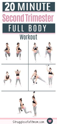 5 Full Body Toning Exercises For Your Second Trimester 5 Full Body Toning Exercises For Your Second Trimester Struggles Of a Fit Mom BrookeCavalla 10 Minute Workouts If you nbsp hellip Pregnancy workout Full Body Hiit Workout, Prenatal Workout, 10 Minute Workout, Prenatal Yoga, Toning Workouts, Body Exercises, Mom Workout, Workout Plans, Pregnancy Exercise First Trimester