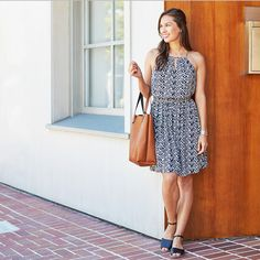 What To Wear With Summer Shoes: Sundresses and stacked heels are summer style perfection. Airy, lightweight sundresses balance nicely with a chunky stacked heel for fun proportion play. Get more outfit inspiration for your summer sandals on the blog!