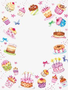 Leading Illustration & Publishing Agency based in London, New York & Marbella. Happy Birthday, Birthday Greetings, Birthday Wishes, Birthday Cards, Cupcake Birthday, Cake Clipart, Cake Borders, Cake Wallpaper, Watercolor Cake