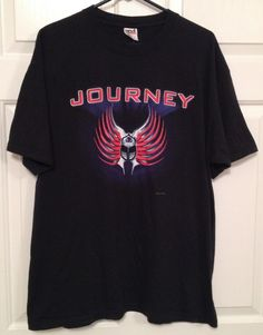 Journey (band) Concert Tour T-Shirt 2002 Under the Radar Size XL