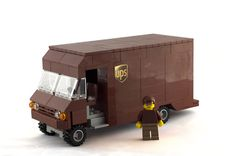 A Lego UPS truck, just one of the many creations here in our store! #bullmarkettoys #Lego
