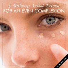 Makeup artist tips for getting and even complexion. #makeup