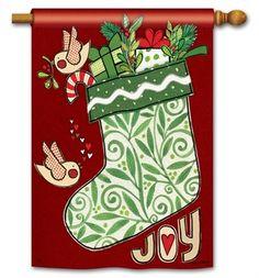 joy stocking christmas house flag 28 x 40 breezeart