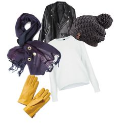 click, must have for winter, gloves, hat, scarf, sweater and jacket. Scarf by Amber Kane. http://www.amberkane.com