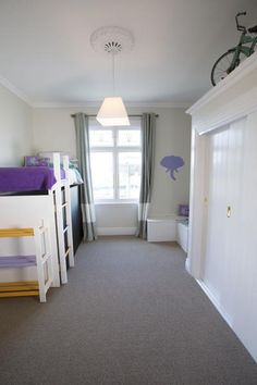 WEEK THREE KIDS ROOM REVEAL: Alisa and Koan's Kids room reveal, A dash of lilac is used throughout this room #theblocknz