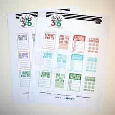 'COUNTDOWN' free printables for Create 365™ The Happy Planner   me & my BIG ideas