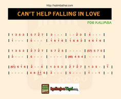 Can't help falling in love - kalimba สอนเล่น พร้อมโน้ตประกอบ - Kalimba Thai Piano Music Notes, Music Tabs, Music Chords, Ukulele Songs, Easy Piano Songs, Easy Piano Sheet Music, Flute Sheet Music, Music Sheets, Harmonica How To Play