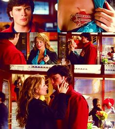 SMALLVILLE - This was a Funny one, & Kinda Scary! Lois was dosed up with Red Meteor Rock & when she Kissed Clark he went Crazy!!
