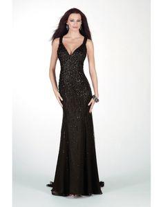 Chiffon V-neck Cut Out Slit Criss Cross Front Prom Dress