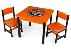 Harley-Davidson Table & 2 chair set