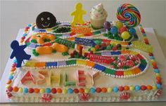 candyland cake // fave childhood game. fun party theme