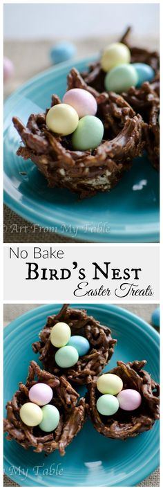 Bird's nest Easter treats are a delicious, easy and quick recipe to prepare. Activity, Decor and a treat all rolled into one!  + Video!| Dessert recipe | Easter recipe | Spring |