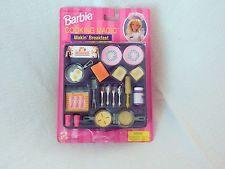 Barbie NIB Cooking Magic Makin' Breakfast w Color Change Magic Miniture Food