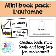 Check out a variety of French resources with fall themed vocabulary! Great for teaching fall vocabulary to Core French and French Immersion students! Spanish Teaching Resources, French Resources, Core French, French Class, French Articles, Teacher Books, French Immersion, Literacy Stations, English Classroom