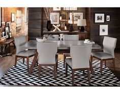 Mercer II Dining Room Collection - Value City Furniture-Dining Table $699.99