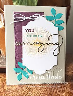 Amazing You, Celebrate You, Stampin' Up!, SAB2018, SU!