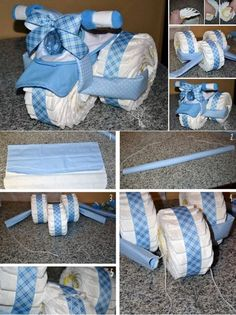 Baby Diaper Tricycle Giving useful gifts to new parents at a baby shower is always a great idea!