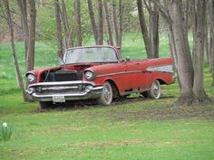 57 belair..what a waste